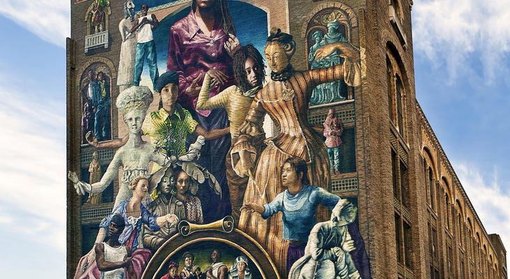 Philadelphia mural arts advocates for Cache fils tv mural